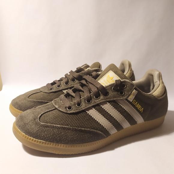 Adidas Hemp Samba Turf Green Sneakers